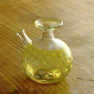 w5072-100-1 6.8x6.0x7.0黄水玉ガラス醤油さし