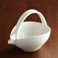 w6361-60-1 14.0x10.0x11.5白陶器ちろり