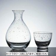 w6363-70-1 φ7.0x11.6φ5.5x5.2銀箔ガラス酒器セット