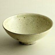 w7004-120-1 φ15.5x6.1黄粉引き中鉢(三笘 修)