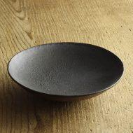w7008-90-1 φ17.7x4.1黒素焼き浅鉢