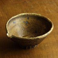 w7015-125-1 17.4x15.8x7.3薄茶貫入片口鉢(稲吉善光)