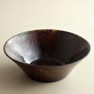 w7020-120-1 φ17.6x5.8あめ釉鉢(喜多村 光史)