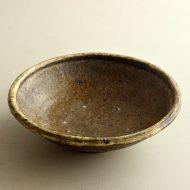 w7023-135-1 φ19.8x5.8茶つやなし貫入厚手鉢(稲吉 善光)