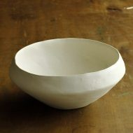 w7037-120-1 φ18.0x7.7粉引きマット口狭鉢