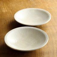 w7040-60-2 φ15.0x3.2粉引き縁すじめ平鉢