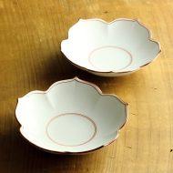 w7075-40-2 φ15.0x3.8白磁赤絵花形平鉢