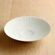 w7109-75-1 φ16.0x3.2マット粉引きしのぎ平鉢