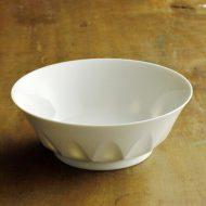 w7181-120-1 φ17.2x6.2白磁しのぎすかし鉢