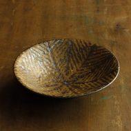 w7311-75-1 φ15.0x3.7茶葉模様平鉢
