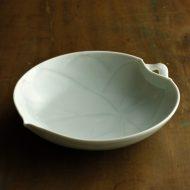 w7312-200-1 φ19.7x4.5葉形青磁鉢(大)