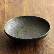 w7328-45-1 φ15.0x3.8濃い茶粗目浅鉢