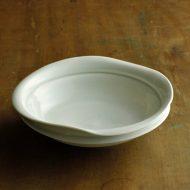 w7355-90-1 17.5x17.3x5.0青磁変形鉢
