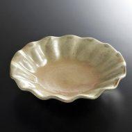 w7364-90-1 φ16.5x3.8灰釉花形平鉢