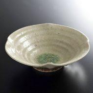 w7409-35-1 φ16.0x4.5灰薄緑ガラス釉鉢