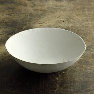 w7514-210-1 21.0x19.6x6.2粉引変形大鉢(ヨーガンレール)