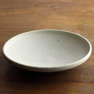 w7522-100-1 φ20.3x4.0灰白平鉢(清岡 幸道)