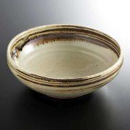 w7527 粉引鉄筋目菓子鉢