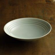 w7545-120-1 φ20.0x4.8青磁縁3本ライン平鉢