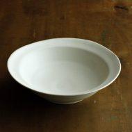 w7554-125-1 21.0x20.0x5.8つや消し白楕円大鉢