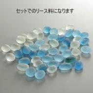 w8006-15-1 1.5x1.0すりガラス製平石青白セット
