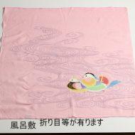 w8071-90-1 69x69ピンクおしどり風呂敷