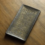 w8280-350-1 25.0x13.2x1.7金銀彩くぼみ長皿