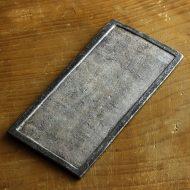 w8290-100-1 21.0x10.5縁黒中白釉長皿(井内 素)