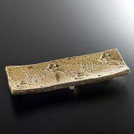 w8403-75-1 32.0x12.5x4.5黄瀬戸厚手長皿