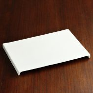 w8604-60-1 24.3x16.0x1.5白磁ブリッチ長角皿