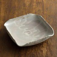 w8649-55-1 17.8x17.8x3.8灰色変形角深皿