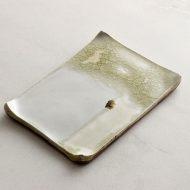 w8673 白ガラス釉長角皿(近藤文)