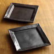 w8686-30-2 14.0x14.0マット額縁鉄色角小皿