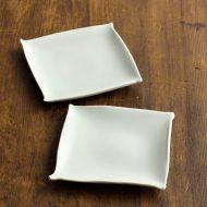 w8711-50-2 11.5x11.5青磁かどひねり角小皿