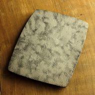 w8712-360-1 19.3x26.0x1.5陶胎漆器 銀彩 (山本哲也)