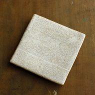 w8720-100-1 19.0x11.8x2.8薄茶白釉柄ライン角板皿