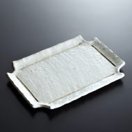 w8724-45-1 20.8x14.8粉引き縁つまみ長角皿