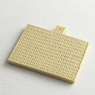 w8759-75-1 12.0x11.0x1.0黄おろし金風盛り皿(はしもとさちえ)