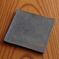 w8760-60-1 12.2x12.0素焼き黒角小皿
