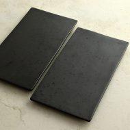 w8807 BITZ 黒シミ模様長角皿