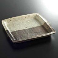 w8811-120-1 24.5x23.5x2.7粉引粗目額縁角皿
