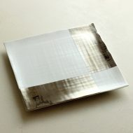 w8815-160-1 20.8x20.8x1.3有田焼銀彩角皿