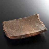 w8839-100-1 25.5x21.5x4.0茶素焼き厚手長角皿