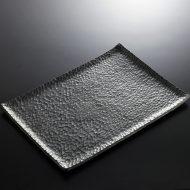 w8863-270-1 40.0x27.5黒うろこ長角大平皿