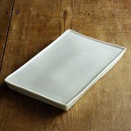 w8867-200-1 27.0x2.5x17.0青磁まな板皿 大  藤井憲之