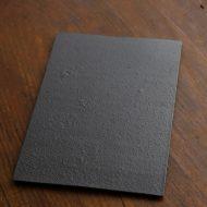 w8888 Petra 黒ザラメ長角板皿
