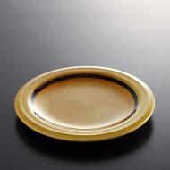 y1012-35-1 φ19.5CCRAMICA 茶ストーン茶/オレンジライン皿
