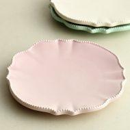 y1045-20-1 φ14.5フランフランクリーム色皿 ピンク