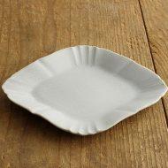 y1074 菱形リム皿(薄グレー)