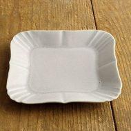 y1076 角リム皿(薄グレー)